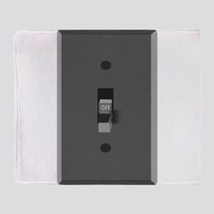 Light Switch Off Throw Blanket
