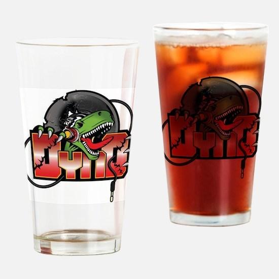Logo for DJ Dyno Drinking Glass