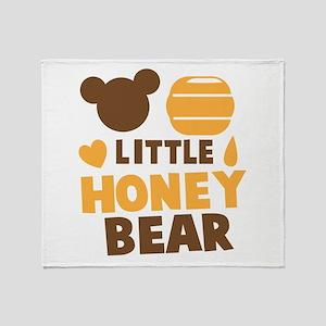 Little HONEY Bear! Throw Blanket