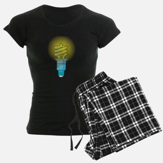 Fluorescent Light Bulb Pajamas