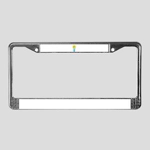 Fluorescent Light Bulb License Plate Frame