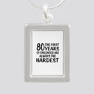 80 Years Of Childhood Ar Silver Portrait Necklace