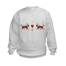 Cute Patchwork Christmas Dogs Sweatshirt