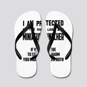 I am protected by the good lord and Min Flip Flops
