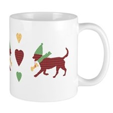 Cute Patchwork Christmas Dogs Mugs