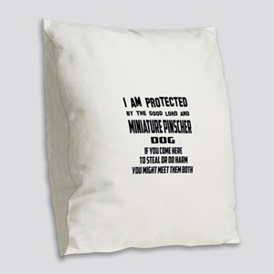 I am protected by the good lor Burlap Throw Pillow