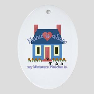 Miniature Pinscher Oval Ornament