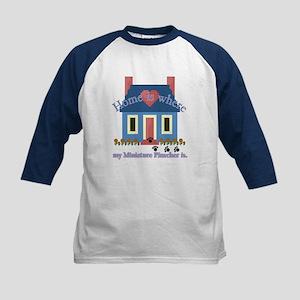 Miniature Pinscher Kids Baseball Jersey