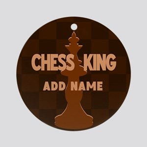 King of Chess Ornament (Round)