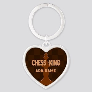 King of Chess Heart Keychain