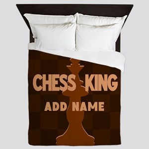 King of Chess Queen Duvet