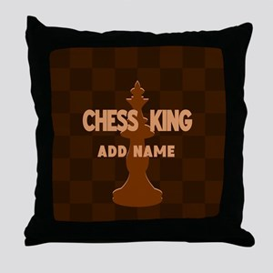 King of Chess Throw Pillow