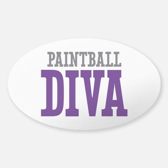 Paintball DIVA Sticker (Oval)