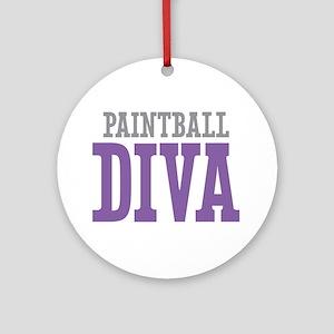 Paintball DIVA Ornament (Round)