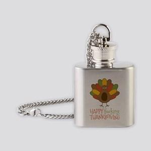 Happy Fucking Thanksgiving Flask Necklace