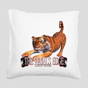 Rebels Edge Wild Animal Tiger Stretching Square Ca