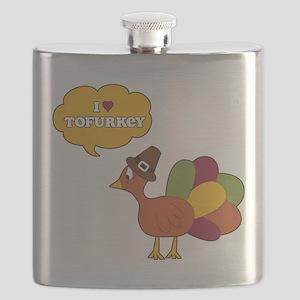I Heart Tofurkey Flask