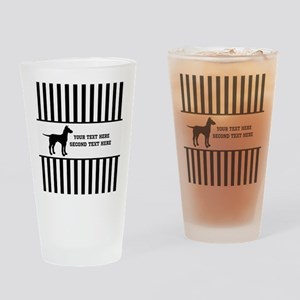Black and White Stripe and a Dog Drinking Glass