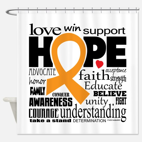 Multiple Sclerosis Words Shower Curtain