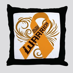 Multiple Sclerosis Warrior Throw Pillow