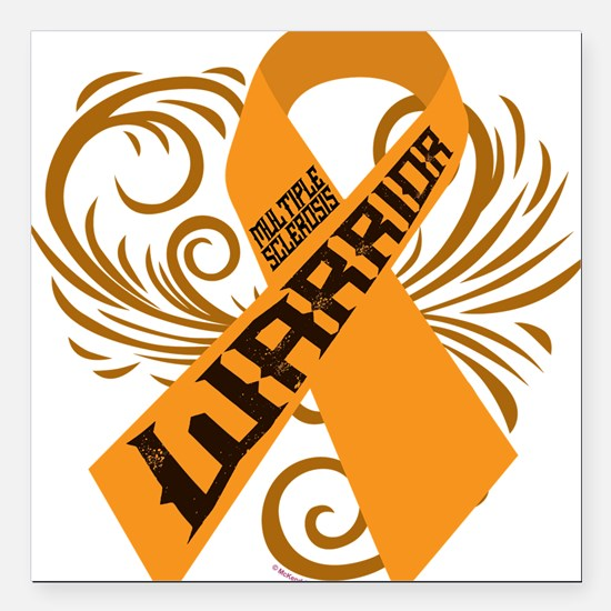 """Multiple Sclerosis Warrior Square Car Magnet 3"""" x"""
