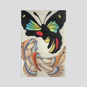 Twisted Butterflys Rectangle Magnet