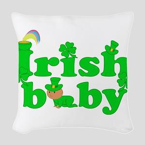 Irish Baby Woven Throw Pillow