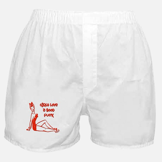 Girls Love a Good Puck Boxer Shorts