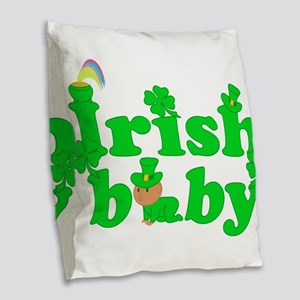 Irish Baby Burlap Throw Pillow
