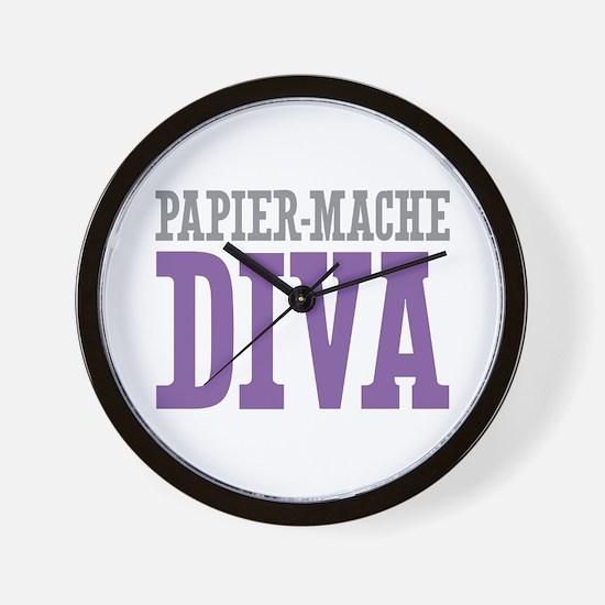Papier-Mache DIVA Wall Clock