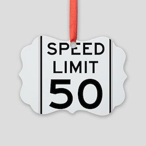 Speed Limit 50 Ornament