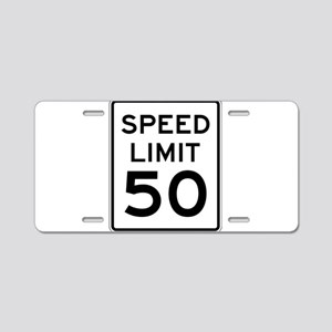 Speed Limit 50 Aluminum License Plate