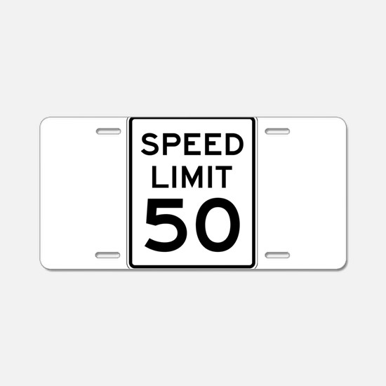 Speed Limit 50 Aluminum License Plate