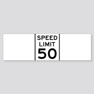 Speed Limit 50 Bumper Sticker