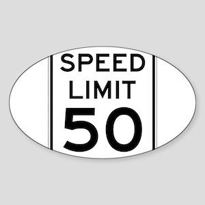 Speed Limit 50 Sticker