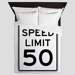 Speed Limit 50 Queen Duvet
