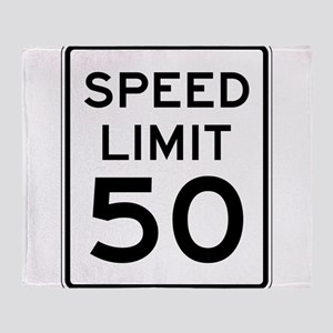 Speed Limit 50 Throw Blanket