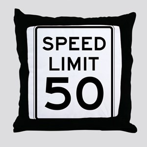 Speed Limit 50 Throw Pillow
