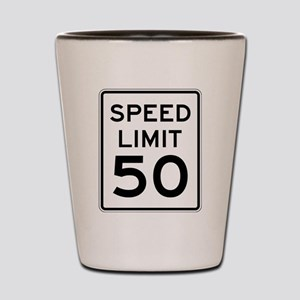 Speed Limit 50 Shot Glass