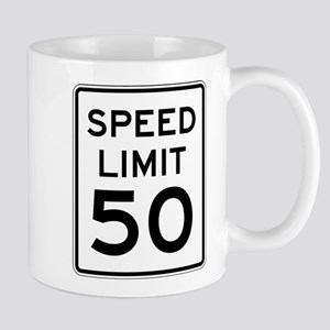 Speed Limit 50 Mugs