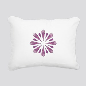 Pink and Purple Stain Rectangular Canvas Pillow