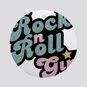 Rock N Roll Girl Ornament (Round)