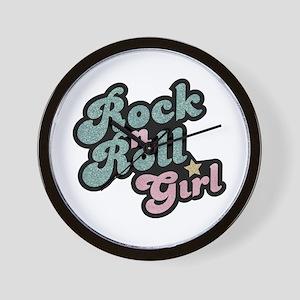 Rock N Roll Girl Wall Clock