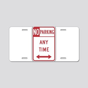 No Parking Aluminum License Plate