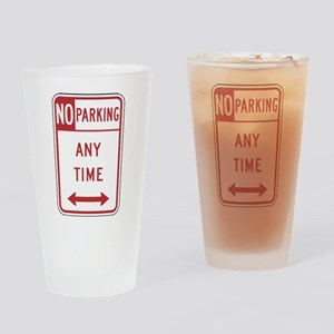 No Parking Drinking Glass