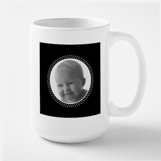 Custom Christmas Black White Mugs