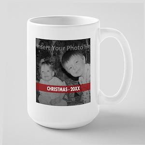 Modern Christmas Red White Mugs