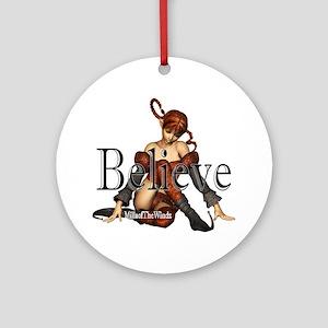 Elf Believe Ornament (Round)