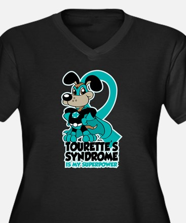 Tourette's Superpower Women's Plus Size V-Neck Dar