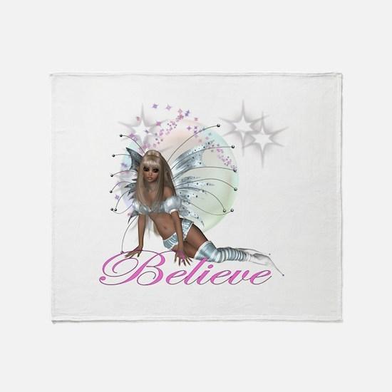 believe fairy moon.png Throw Blanket